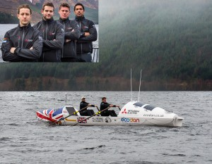 L to R: Stuart Markland; Liam Browning; James Kendall; James Timbs-Harrison, will row the Atlantic in two hours shifts