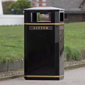 The Invicta outdoor litter bin