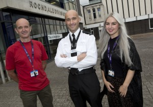 Support Worker Nicholas Blunt, PC Michael Clarke, Specialist Mental Health Practitioner Louise Shaw